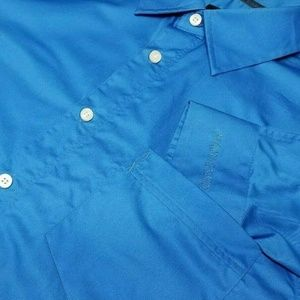 ARMANI EXCHANGE XL Royal Blue Long Sleeve Shirt